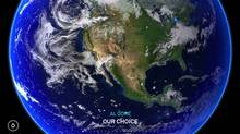 Screen grab from the book app for Al Gore, Our Choice.