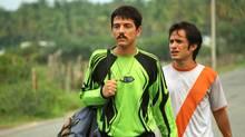 Diego Luna as Beto (left), Gael Garcia Bernal as Tato.