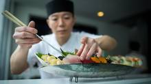 Vancouver's RawBar has had to replace popular sushi items with sustainable ones to become 100 per cent Ocean Wise. (DARRYL DYCK/THE GLOBE AND MAIL)