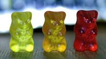 A woman in Cranbrook, B.C., and her teenage son are facing drug charges after the RCMP found Gummi Bears like these laced with LSD. (The Canadian Press)