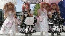 Japanese women dressed in Lolita fashion in Tokyo in 2008. (Reuters)