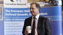 Steve Laut, President of Canadian Natural, arrives at the company's annual general meeting in Calgary, Alberta, in this May 5, 2011, file photo. (TODD KOROL/REUTERS)