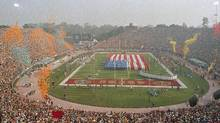 Stanford Stadium during Super Bowl XIX between the San Francisco 49ers and Miami Dolphins in Stanford, Calif., on Jan. 20, 1985. (AP Photo)