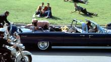 "This image provided by Warner Bros. from Oliver Stone's 1991 movie ""JFK"" shows a recreation of the assassination of U.S. President John F. Kennedy in Dallas. (AP)"