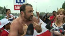 Other people heckled Rob Ford when he appeared at a parade in east-end Toronto, but Joe Killoran forever gained fame as the 'Shirtless Jogger' who chewed out the mayor on Canada Day. (Global News)