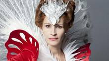 "Julia Roberts as the Evil Queen in a still for the film ""Mirror Mirror"""