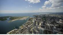 The Toronto waterfront area, as seen from the 360 Restaurant at the CN Tower. (Fred Lum/Fred Lum/ The Globe and Mail)