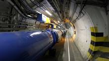 The Large Hadron Collider in its tunnel at CERN near Geneva, Switzerland. (MARTIAL TREZZINI/AP Photo)