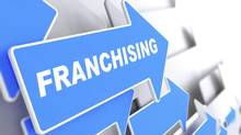 "Arrows, with one reading ""Franchising."" (iStockphoto)"