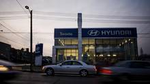 Canada's auto makers oppose the duty-free importation of Hyundai and Kia vehicles. (Sami Siva for The Globe and Mail)