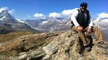 Chef Massimo Capra in the Swiss Alps near Zermatt.