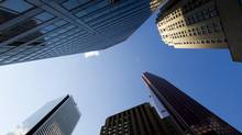 Canadian bank headquarters stand on Bay Street, the centre of Toronto's Financial District. (Brent Lewin/Bloomberg)