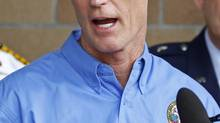 Florida Governor Rick Scott speaks during a news conference as Tropical Storm Issac approaches the state amid final preparations for the Republican National Convention in Tampa, Florida August 26, 2012. (JOE SKIPPER/REUTERS)