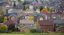 Houses are seen in Mississauga, Ontario. (Mark Blinch For The Globe and Mail)