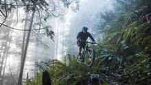 Mark Wood of the North Shore Mountain Biking Association rides the Quarry Court trail in North Vancouver, B.C. (Jimmy Jeong For The Globe and Mail)