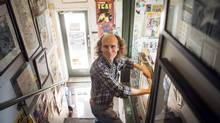 Graphic novelist Chester Brown, seen above in Toronto comic book shop Beguiling on April 1, says he doesn't expect his new book on prostitution and the Bible to spark any particular controversy. (JENNIFER ROBERTS For The Globe and Mail)
