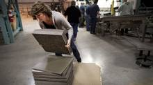 Belletile, a carpet tile manufacturer in Belleville, Ont., was founded by a former employee of Interface Flooring System Inc. General Manager Rahumathulla Marikkar opened up the company in the former manufacturing site of Interface. (Moe Doiron/The Globe and Mail/Moe Doiron/The Globe and Mail)