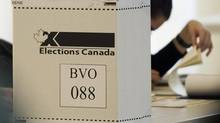 An Elections Canada ballot box is shown on federal election day in Montreal, Monday, May 2, 2011. (Graham Hughes/THE CANADIAN PRESS)