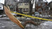 The ice storm immobilized many in Toronto, but not real estate buyers and sellers. (Fred Lum/The Globe and Mail)