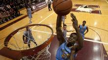 Andrew Wiggins, playing for Huntington Prep school at an exhibition game in Hamilton on Feb. 17, 2013 (Peter Power/Peter Power/The Globe and Mail)