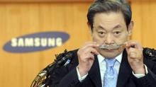 At Samsung, the Lee family dynasty is attempting to pass power from the older, ailing patriarch, Lee Kun-hee, to the younger heir, Lee Jae-yong, who is worth roughly $7.8-billion (U.S.). (NEWSIS/REUTERS)