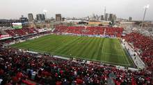 An overall view of BMO Field is seen before Toronto FC play Philadelphia Union in their MLS soccer match in Toronto (© Mark Blinch / Reuters/REUTERS)