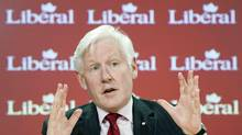 LIberal candidate Bob Rae at an Ottawa press conference on April 19, 2011. (Adrian Wyld/The Canadian Press/Adrian Wyld/The Canadian Press)