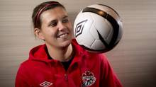Canadian National Soccer team member Christine Sinclair (JONATHAN HAYWARD/THE CANADIAN PRESS)