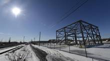 The steel frame structure is all remains of a gas plant that was supposed to be built in Mississauga, Ont.. in this 2013 photo. (Fred Lum/The Globe and Mail)