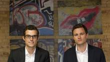 Josh LeBrun, left, and Adrian Bartha of High Park Capital Partners are photographed at their offices in Toronto, Ont. Sept. 23, 2011.