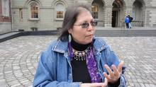 Marcia Brown Martel is the representative plaintiff in the class action lawsuit, claiming a loss of cultural identity. (Diana Mehta/The Canadian Press)