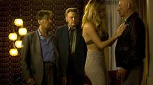 A scene from Stand Up Guys. From left, Al Pacino, Christopher Walken, Katheryn Winnick and Alan Arkin. (Handout)