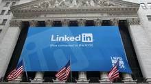Shares of LinkedIn have fallen 27 per cent to $66 (U.S.) since it announced a large secondary offering of shares in early November. (Mike Segar/Reuters/Mike Segar/Reuters)
