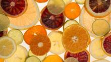 A studio illustration for a story about extracting citric acid from citrus fruits in the G&M studio in Toronto, Ontario on April 4, 2014 (Peter Power for The Globe and Mail)