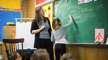 Élise Duval, a Grade 2 French-immersion teacher in White Rock, B.C., was one of the nine French-language teachers who responded to the Facebook message from Surrey. (Ben Nelms/The Globe and Mail)