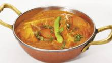 Shahi paneer – curd cheese in a tomato-based curry – is normally served on special occasions.