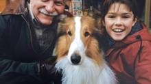 Walter Massey (left) co-starred as Doc Stewart in the Canadian TV series Lassie, with Corey Sevier as Timmy. (Courtesy of Sharman Yarnell)