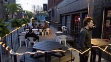 The patio at the Hideout on Queen, on Queen Street West area in Toronto. (Steve Payne/NYT)