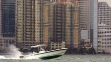 Condominiums in downtown Miami. (CARLOS BARRIA/REUTERS)