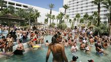 The party is always around the pool at the Hard Rock casino and hotel in Las Vegas. (Isaac Brekken/The Associated Press/Isaac Brekken/The Associated Press)