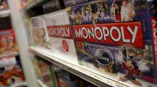 The iconic board game Monopoly by toymaker Hasbro is displayed at a toy store on April 14, 2011 in New York City. (Spencer Platt/Getty Images)