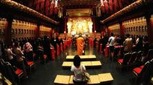 The Buddhist Tooth Relic Temple in Singapore.