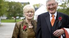 Lloyd Pinkney and his wife, Mary Gayle, at their daughter Laurie's wedding in 2008.