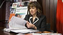 Ontario Auditor General Bonnie Lysyk prepares to deliver the 2013 annual report at the legislature in Toronto on Dec. 10, 2013. (CHRIS YOUNG/THE CANADIAN PRESS)