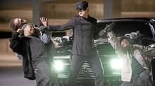 """From the studios' perspective, Jay Chou's character in """"The Green Hornet"""" represents evil ticket sales and his victims are actually innocent studio bosses."""