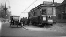 The St. Clair streetcar previously ran in its own dedicated boulevard before 1928. (City of Toronto Archives)