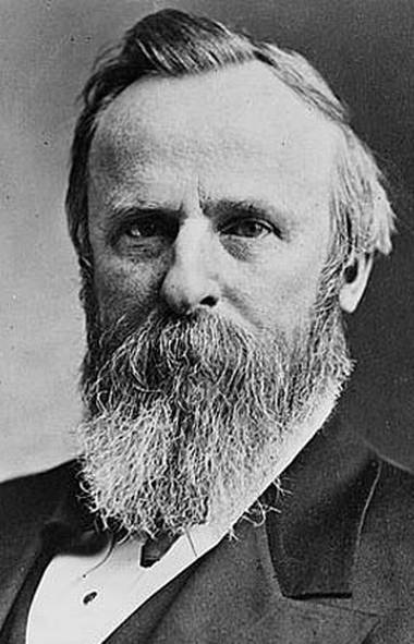 U.S. president Rutherford B. Hayes.