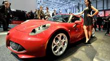 An Alfa Romeo 4C is shown during the press day at the 83rd Geneva International Motor Show in Geneva, Switzerland, Tuesday, March 5, 2013. (CHRISTIAN BRUN/AP)