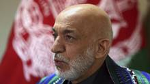 Former Afghan President Hamid Karzai speaks during an interview with the Associated Press in Kabul, Afghanistan, Monday, April 17, 2017. (Rahmat Gul/AP)