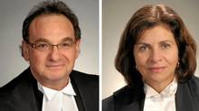 Mr. Justice Michael Moldaver, left, and Madam Justice Andromake Karakatsanis.